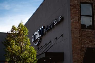 Amazon building with tree