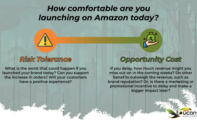 risk and opportunity cost graph amazon launch